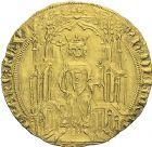 Photo numismatique  ARCHIVES VENTE 2012 ROYALES FRANCAISES PHILIPPE VI DE VALOIS(1er avril 1328-22 août 1350)  480- Double d'or de la 1ère émission (6 avril 1340).