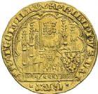 Photo numismatique  ARCHIVES VENTE 2012 ROYALES FRANCAISES PHILIPPE VI DE VALOIS(1er avril 1328-22 août 1350)  477- Ecu d'or à la chaise de la 2ème émission (10 avril 1343).