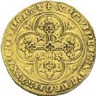 Photo numismatique  ARCHIVES VENTE 2012 ROYALES FRANCAISES PHILIPPE VI DE VALOIS(1er avril 1328-22 août 1350)  476- Ecu d'or à la chaise de la 1ère émission (1er janvier 1337).