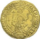 Photo numismatique  ARCHIVES VENTE 2012 ROYALES FRANCAISES PHILIPPE IV LE BEL (5 octobre 1285-30 novembre 1314)  464- Denier d'or à la masse de la 1ère émission (10 janvier 1296).