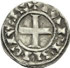 Photo numismatique  ARCHIVES VENTE 2012 ROYALES FRANCAISES LOUIS VII (1er août 1137-18 septembre 1180)  460- Denier de Paris du 3ème type.