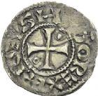 Photo numismatique  ARCHIVES VENTE 2012 ROYALES FRANCAISES HUGUES CAPET (3 juillet 987-24 octobre 996) Avec l'évêque de Beauvais Hervé (987-998) 456 - Deniers de Beauvais, frappés avec l'Evêque HERVÉ (987-998).