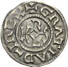 Photo numismatique  ARCHIVES VENTE 2012 CAROLINGIENS CHARLES LE CHAUVE, roi (840-875) - empereur (jour de Noël 875-6 octobre 877)   454- Denier frappé à  Quentovic  après 864.