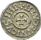 Photo numismatique  ARCHIVES VENTE 2012 CAROLINGIENS LOUIS LE PIEUX, empereur (janvier 814-20 juin 840)  453- Denier frappé à Paris jusqu'en 823.