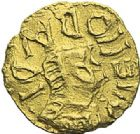Photo numismatique  ARCHIVES VENTE 2012 PEUPLES BARBARES MEROVINGIENS CITES CRU (Maine-et-Loire) 450- Triens au nom du monétaire Mellobaudis.