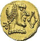 Photo numismatique  ARCHIVES VENTE 2012 PEUPLES BARBARES MEROVINGIENS CITES RODEZ (Aveyron) 449- Triens au nom du monétaire Vendemius.