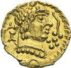 Photo numismatique  ARCHIVES VENTE 2012 PEUPLES BARBARES MEROVINGIENS CITES BANASSAC (Lozère) 448- Triens au nom du monétaire Elafius.