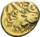 Photo numismatique  ARCHIVES VENTE 2012 IBERIE- GAULE - CELTES ATREBATES (région d'Arras)  445- Statère d'or.
