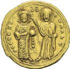 Photo numismatique  ARCHIVES VENTE 2012 EMPIRE BYZANTIN ROMAIN III ARGYRE (1028-1034)  432- Nomisma histaménon, frappé à Constantinople.