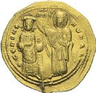 Photo numismatique  ARCHIVES VENTE 2012 EMPIRE BYZANTIN ROMAIN III ARGYRE (1028-1034)  431- Nomisma histaménon, frappé à Constantinople.