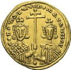 Photo numismatique  ARCHIVES VENTE 2012 EMPIRE BYZANTIN CONSTANTIN VII et ROMAIN Ier (920-944)  425- Solidus, frappé à Constantinople en 945/969.