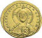 Photo numismatique  ARCHIVES VENTE 2012 EMPIRE BYZANTIN CONSTANTIN VII et ROMAIN Ier (920-944)  424- Solidus, frappé à Constantinople en 945/969.