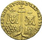 Photo numismatique  ARCHIVES VENTE 2012 EMPIRE BYZANTIN BASILE et CONSTANTIN (868-879)  423- Solidus, frappé à Constantinople en 868/870.