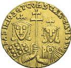 Photo numismatique  ARCHIVES VENTE 2012 EMPIRE BYZANTIN BASILE et CONSTANTIN (868-879)  423- Solidus, frappé à Constantinople en 868/870.