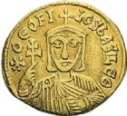 Photo numismatique  ARCHIVES VENTE 2012 EMPIRE BYZANTIN THEOPHILE, CONSTANTIN et MICHEL III (840-842)  418- Solidus, frappé à Constantinople en 829/835.