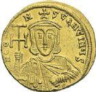 Photo numismatique  ARCHIVES VENTE 2012 EMPIRE BYZANTIN CONSTANTIN V et LEON IV (751-775)  415- Solidus, frappé à Constantinople.