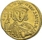 Photo numismatique  ARCHIVES VENTE 2012 EMPIRE BYZANTIN CONSTANTIN V et LEON IV (751-775)  415- Solidus, frappé à Constantinople.