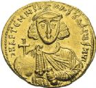 Photo numismatique  ARCHIVES VENTE 2012 EMPIRE BYZANTIN ANASTASE II ARTEMIUS (713-715)  413- Solidus, frappé à Constantinople.