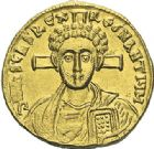Photo numismatique  ARCHIVES VENTE 2012 EMPIRE BYZANTIN JUSTINIEN II, 2e règne (705-711)  412- Solidus, frappé à Constantinople.