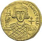 Photo numismatique  ARCHIVES VENTE 2012 EMPIRE BYZANTIN JUSTINIEN II, 2e règne (705-711)  412- Solidus, frappé à Constantinople.