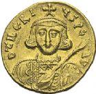 Photo numismatique  ARCHIVES VENTE 2012 EMPIRE BYZANTIN TIBERE III APSIMAR (698-705)  411- Solidus, frappé à Constantinople.
