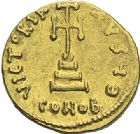 Photo numismatique  ARCHIVES VENTE 2012 EMPIRE BYZANTIN TIBERE III APSIMAR (698-705)  411- Solidus, frappé à Constantinople.
