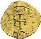 Photo numismatique  ARCHIVES VENTE 2012 EMPIRE BYZANTIN LEONCE (695-698)  409- Tremissis, frappé à Constantinople.