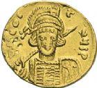 Photo numismatique  ARCHIVES VENTE 2012 EMPIRE BYZANTIN CONSTANTIN IV, HERACLIUS et TIBERE (681-685)  408- Solidus, frappé à Constantinople vers 674/680.