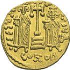 Photo numismatique  ARCHIVES VENTE 2012 EMPIRE BYZANTIN CONSTANTIN IV, HERACLIUS et TIBERE (681-685)  407- Solidus, frappé à Constantinople vers 674/680.
