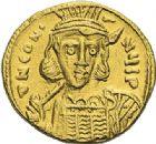 Photo numismatique  ARCHIVES VENTE 2012 EMPIRE BYZANTIN CONSTANTIN IV, HERACLIUS et TIBERE (681-685)  406- Solidus, frappé à Constantinople vers 674/680.