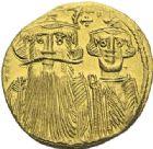 Photo numismatique  ARCHIVES VENTE 2012 EMPIRE BYZANTIN CONSTANS II, CONSTANTIN IV, HERACLIUS et TIBERE (659-668)  405- Solidus, frappé à Constantinople en 659/668.