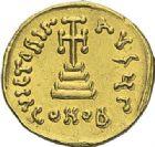 Photo numismatique  ARCHIVES VENTE 2012 EMPIRE BYZANTIN CONSTANS II (641-668)  404- Solidus, frappé à Constantinople en 651/654.