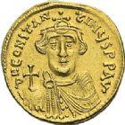 Photo numismatique  ARCHIVES VENTE 2012 EMPIRE BYZANTIN CONSTANS II (641-668)  403- Solidus, frappé à Constantinople en 638/641.