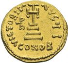 Photo numismatique  ARCHIVES VENTE 2012 EMPIRE BYZANTIN HERACLIUS, H. CONSTANTIN et HERACLEONAS (638-641)  402- Solidus, frappé à Constantinople en 638/641.