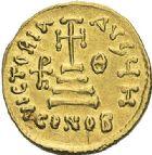 Photo numismatique  ARCHIVES VENTE 2012 EMPIRE BYZANTIN HERACLIUS, H. CONSTANTIN et HERACLEONAS (638-641)  401- Solidus, frappé à Constantinople en 638/641.