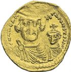 Photo numismatique  ARCHIVES VENTE 2012 EMPIRE BYZANTIN HERACLIUS et HERACLIUS CONSTANTIN (613-638)  400- Solidus, frappé à Constantinople en 613/638.