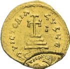 Photo numismatique  ARCHIVES VENTE 2012 EMPIRE BYZANTIN HERACLIUS et HERACLIUS CONSTANTIN (613-638)  400- Solidus, frappé à Constantinople en 613/638.