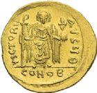 Photo numismatique  ARCHIVES VENTE 2012 EMPIRE BYZANTIN PHOCAS (602-610)  398- Solidus, frappé à Constantinople.