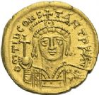 Photo numismatique  ARCHIVES VENTE 2012 EMPIRE BYZANTIN TIBERE CONSTANTIN (578-582)  396- Solidus, frappé à Constantinople.