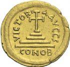 Photo numismatique  ARCHIVES VENTE 2012 EMPIRE BYZANTIN TIBERE CONSTANTIN (578-582)  396- Solidus, frappé à Constantinople.