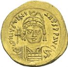 Photo numismatique  ARCHIVES VENTE 2012 EMPIRE BYZANTIN JUSTINIEN Ier (527-565)  394- Solidus, frappé à Constantinople.
