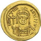 Photo numismatique  ARCHIVES VENTE 2012 EMPIRE BYZANTIN JUSTINIEN Ier (527-565)  392- Solidus, frappé à Constantinople.