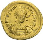 Photo numismatique  ARCHIVES VENTE 2012 EMPIRE BYZANTIN JUSTINIEN Ier (527-565)  391- Solidus, frappé à Constantinople.