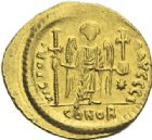 Photo numismatique  ARCHIVES VENTE 2012 EMPIRE BYZANTIN JUSTINIEN Ier (527-565)  390- Solidus, frappé à Constantinople.