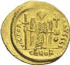 Photo numismatique  ARCHIVES VENTE 2012 EMPIRE BYZANTIN JUSTINIEN Ier (527-565)  390- Solidus, frappé à Constantinople.