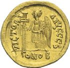Photo numismatique  ARCHIVES VENTE 2012 EMPIRE BYZANTIN ANASTASE Ier (491-518)  387- Solidus, frappé à Constantinople.