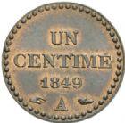 Photo numismatique  MONNAIES MODERNES FRANÇAISES 2e REPUBLIQUE (24 février 1848-2 décembre 1852)  Un centime.