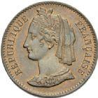 Photo numismatique  MONNAIES MODERNES FRANÇAISES 2ème RÉPUBLIQUE (24 février 1848-2 décembre 1852)  Essai de 10 centimes de 1848.