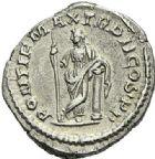 Photo numismatique  ARCHIVES VENTE 2012 EMPIRE ROMAIN MACRIN (217-218)  321- Denier, frappé à Rome.