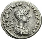 Photo numismatique  ARCHIVES VENTE 2012 EMPIRE ROMAIN CARACALLA (César 196-198 - Auguste 198-217)  316- Lot de cinq deniers.